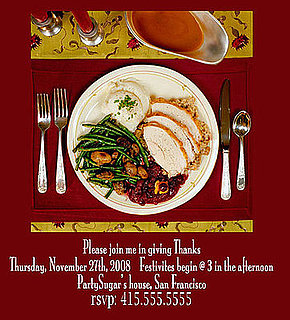 Come Party With Me: Budget Thanksgiving — Invite