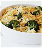 Broccoli and Cauliflower Gratin With Cheddar Cheese