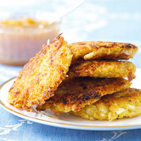 Cauliflower-Curry Latkes