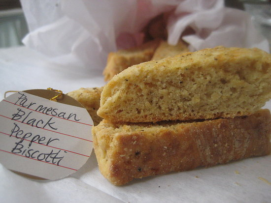 12 Days of Edible Gifts: Parmesan Black Pepper Biscotti