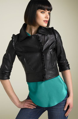 The Look For Less: Madison Marcus Ruffle Leather Jacket