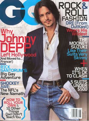 On Which GQ Cover Does Johnny Depp Look Best?