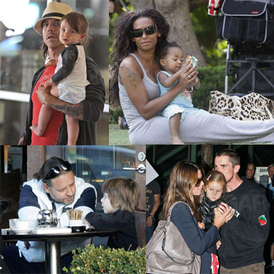Celebrities and Their Babies Over the Weekend 2008-07-21 16:15:50