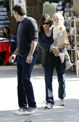 The Afflecks Step Out With Their Baby