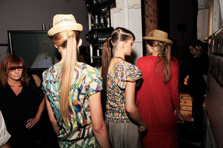 Backstage At Nicole Miller, Photographs by Robert Malmberg