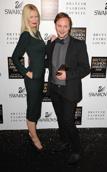 Claudia Schiffer, Nicholas Kirkwood (Swarovski Emerging Talent Award)