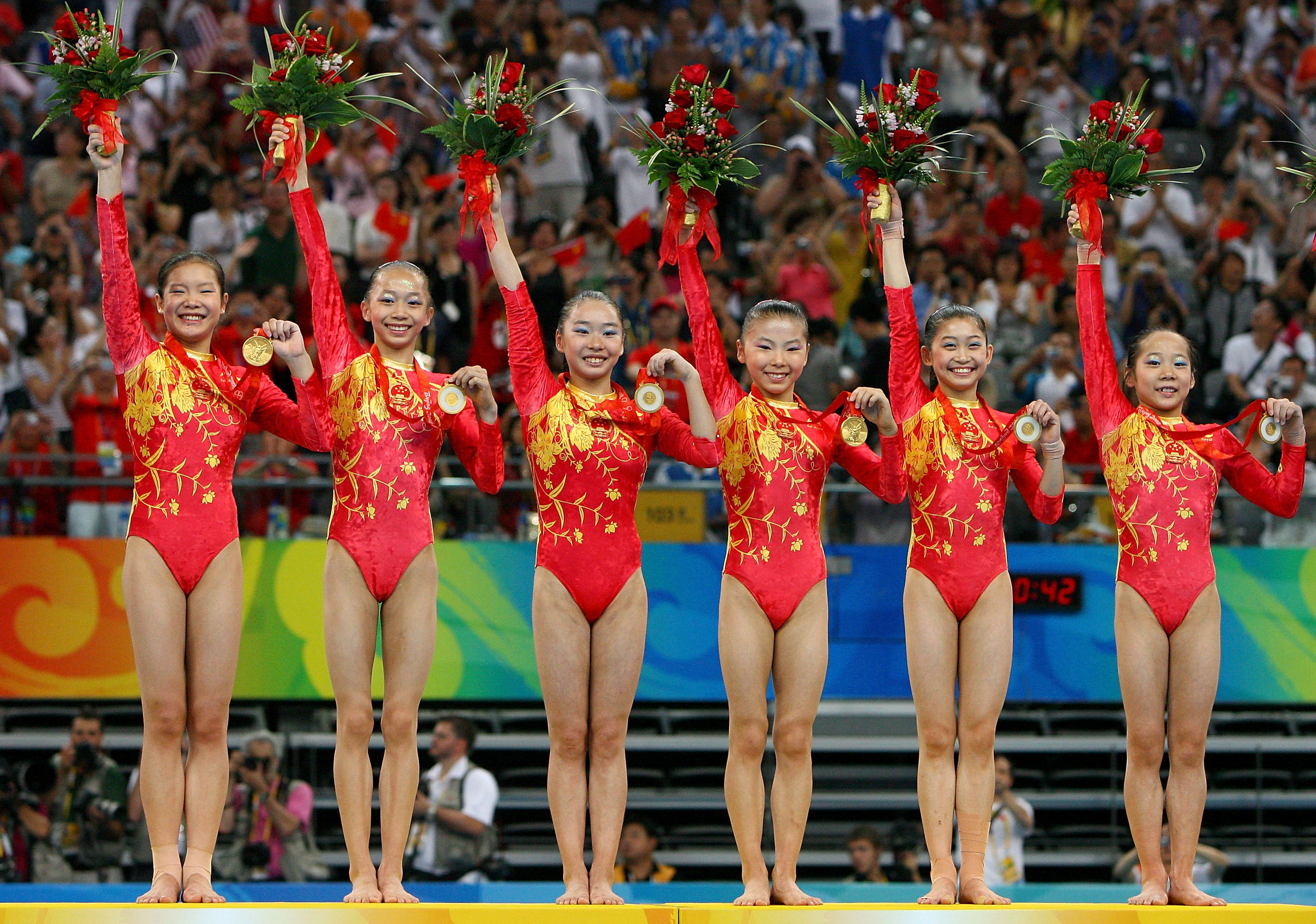 China wins team gold.