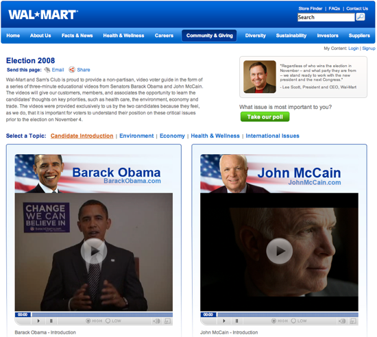 Fab Flash: Wal-Mart Gets Political