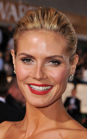 Heidi Klum at the 2009 Golden Globes