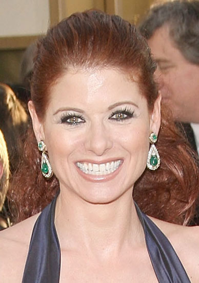 Debra Messing's Makeup at the Golden Globes