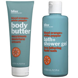 Friday Giveaway! Bliss Blood Orange Body Butter & Shower Gel