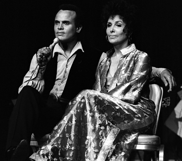 With Harry Belafonte in 1970.