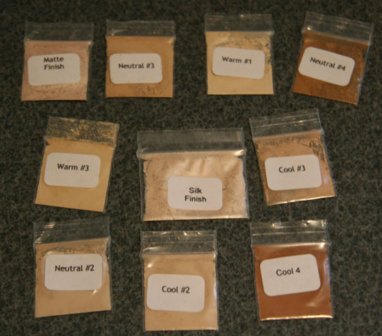 An Assortment of Mineral Makeup