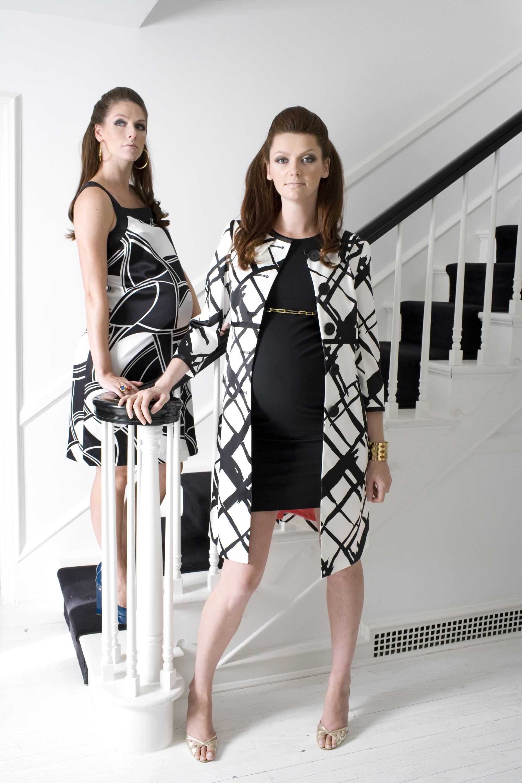 Wiggy Shift Dress ($188), Bethany Coat ($240), Hadley Suiting Dress ($265)
