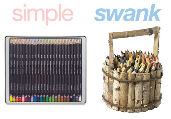 Simple or Swank: Wooden Colored Pencils