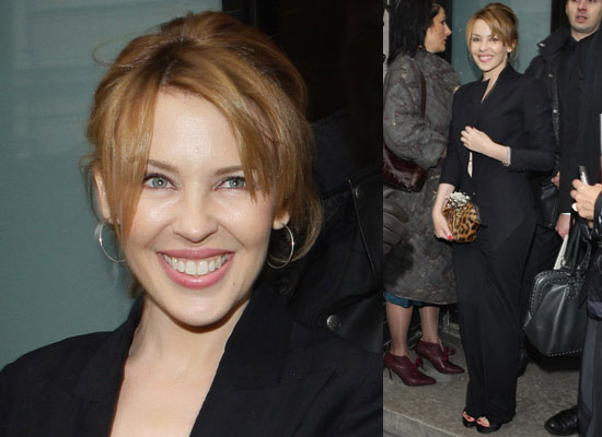 Photos of Kylie Minogue at Jean Paul Gaultier's 2009 Spring Haute Couture Show in Paris