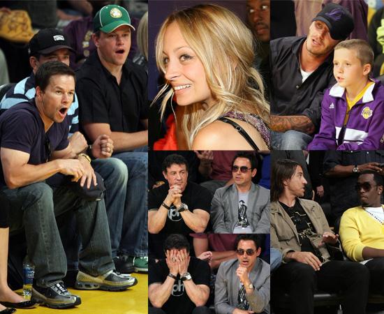Gallery Of Celebs At LA Lakers vs Celtics: Matt Damon, Robert Downey Jr, Sylvester Stallone, David Beckham, Nicole Richie etc!