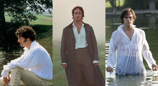 Photos Of Colin Firth, Matthew Macfadyen And Elliot Cowan as a Wet Shirt Darcy in Lost in Austen