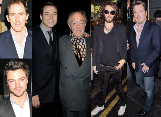 Photos Of Eddie Izzard, Rob Brydon, Dominic Cooper, Russell Brand, David Walliams, Michael Gambon at No Man's Land Press Night