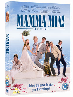 Read Review of Mamma Mia DVD and Watch Deleted Scene and Behind the Scenes Feature From Mamma Mia