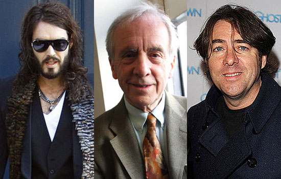Photos of Russell Brand and Jonathan Ross Who Played a Prank on Andrew Sachs Which Caused Controversy in 2008 Headlines