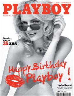 Lydia Hearst Models For French Playboy Magazine