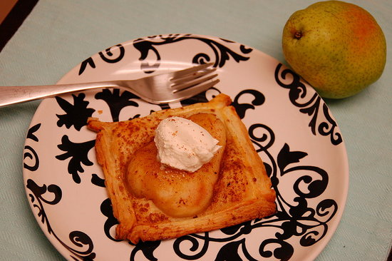 Spicy Pear Pastries w/ Cinnamon and Mascarpone. Recipe from: Flavoring with Spices by Clare Gordon-Smith