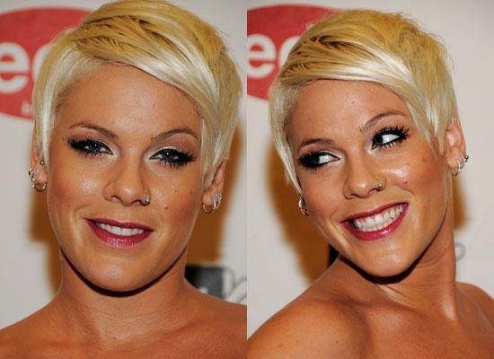 Pink's Hair and Makeup at the 2008 MTV Europe Music Awards