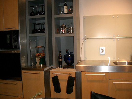 These are great shelves. We are still working out the design for the stainless counter area next to the sink.