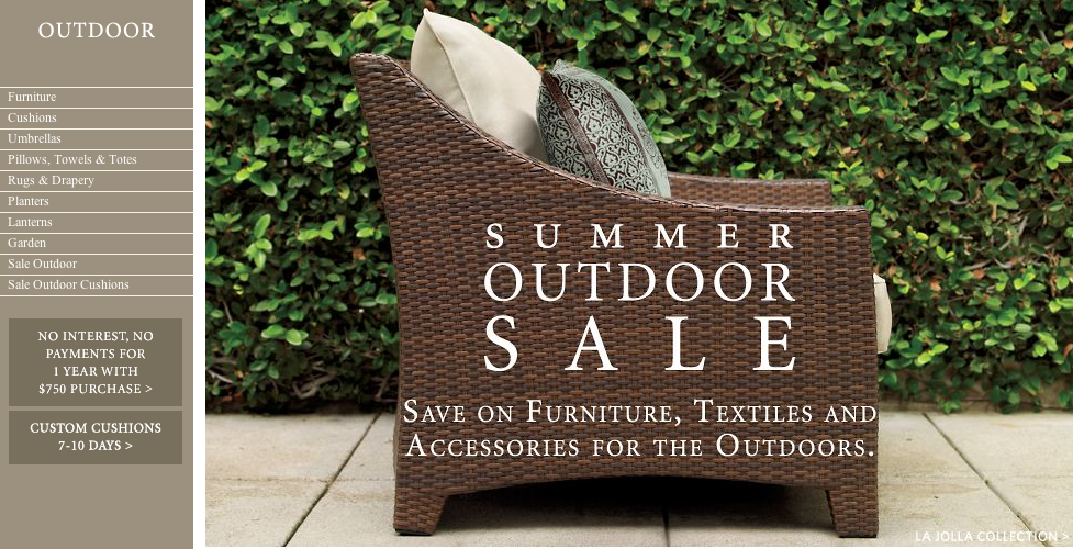 sale alert restoration hardware outdoor sale popsugar home