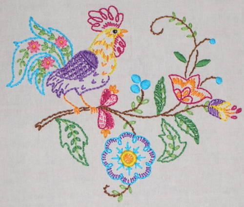 DIY: Lilyvanilli's Rooster Tea Towel
