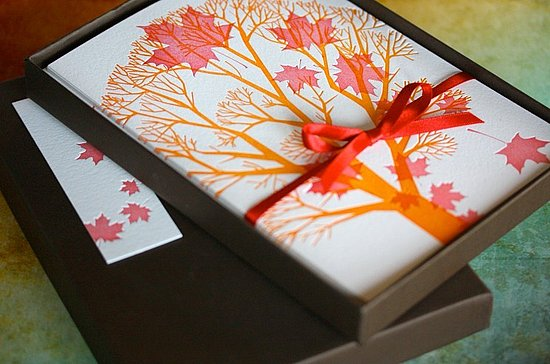 The Card Shop: Maple Leaf/Thanksgiving Boxed Notes