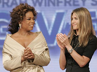 Jen Aniston Becomes One of Oprah's Big Givers