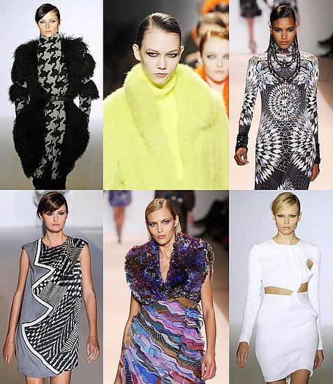 Anja Rubik, Karlie Kloss, Natasha Poly, Arlenis Sosa, Tasha Tilberg, Trish Goff at New York Fashion Week