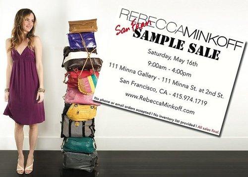 Rebecca Minkoff SF Sample Sale!