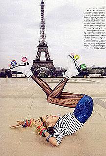 Girls on Film: Anja Rubik and Natasha Poly, Vogue Paris, June/July '09
