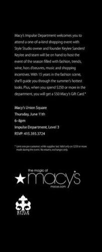 Macy's Impulse Shopping Event, Thurs. 6/11