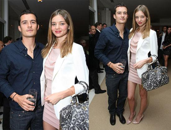 Photos of Miranda Kerr in Stella McCartney and Orlando Bloom at Audi Dinner In Beverly Hills