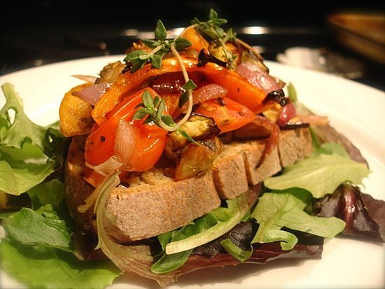 Open-Face Ratatouille Sandwich