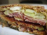 Recipe For Honey Baked Ham and Cabbage Reuben Sandwich