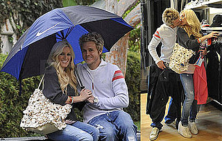Photos of Heidi Montag and Spencer Pratt Kissing at Niketown, In the Rain