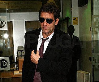 Photo of Clive Owen at London's BBC Radio One