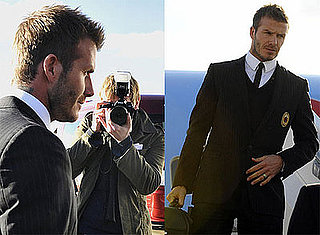 Photos of David Beckham Wearing a Suit in Germany With AC Milan