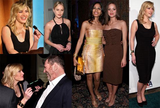 "Photos of Kate Winslet, Freida Pinto, Marion Cotillard at the ""Oscar Wilde: Honoring The Irish In Film""  Awards"