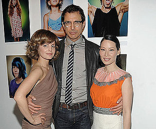 """Photo of Mena Suvari, Lucy Liu and Jeff Goldblum at the opening Night of """"American Character: A Photographic Journey"""""""