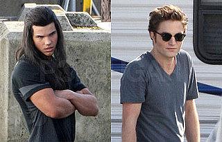 Twilight Battle of Hotness — Taylor Lautner or Robert Pattinson? Photos of Robert Pattinson and Taylor Lautner Filming New Moon