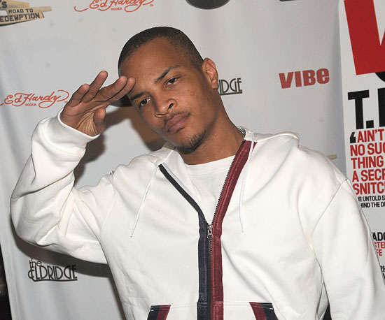 Photo of TI Celebrating His VIBE Magazine Cover in NYC