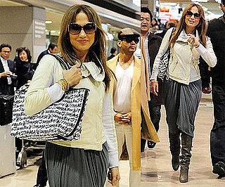 Photos of Jennifer Lopez Arriving at Narita Airport in Japan