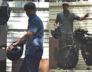 Photos of Ryan Reynolds Near His Motorcycle in LA