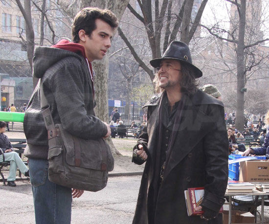Photo of Nicolas Cage and Jay Baruchel Filming The Sorcerer's Apprentice